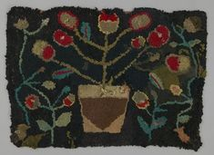 Hooked Rug  Place Made:	North America: Canada, Central Canada, Quebec  Period:	Late 19th century  Date:	c 1880