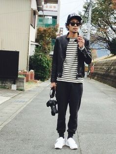 HHK-yasuoさんのライダースジャケット「BLUE WORK BLUE WORK オイルドラム シングルライダースジャケット [DART]」を使ったコーディネート