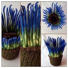 Carol Jensen Felt Art Felted Bowls, Vessels and Sculpture