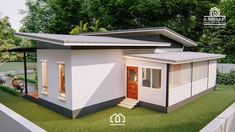Modern, Villa-Style Single Storey House With Two Bedrooms - Ulric Home Modern Bungalow House, Modern House Plans, Small House Plans, Simple House Design, Modern House Design, 2 Bedroom House Design, Modern Tropical House, One Storey House, Luxury Homes Exterior