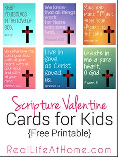 Free Printable Religious Valentine Cards for Kids