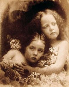 """English Blossoms"" taken by Julia Margaret Cameron in 1873"