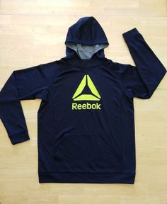 Womens Workout Hoodie Size XL Extra Large Reebok Black Polyester #Reebok #TracksuitsSweats