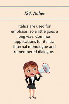 136: Italics.