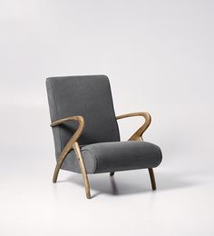 Swoon Editions Armchair, modern-country style in Maritime Grey - £399
