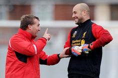 "Pep talk: Rodgers backs Reina to regain his place and prove he's still top class. ""He is intent on making himself a better keeper and when we have that we have one of the best in Europe"" - but Liverpool boss won't reveal who'll face Wigan"