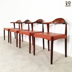 New on www.19west.de: A set of four rosewood dining chairs made in the 1960's in Denmark by Randers Møbelfabrik. #19west #vintage #design #designclassic #mcm #20thcentury #midcentury #1950's #1960's #danishdesign #rosewood