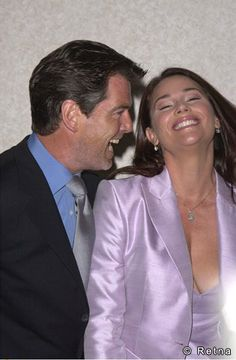 Sad for me, happy for him. Wish them a lifetime of happiness, but if she blinks, I'm there! (lol jk) -  Keely Shaye Smith and Pierce Brosnan Married August 4, 2001