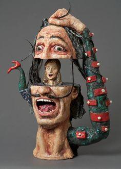 Buy The Scream a Ceramic on Ceramic by Noi Volkov from United States. It portrays: Humor relevant to: fine art dali ceramic Noi Volkov contemporary art ceramic sculpture Pottery Sculpture, Pottery Art, Sculpture Art, Ceramic Sculptures, Surealism Art, Atelier D Art, Bad Art, Arte Popular, Weird Art