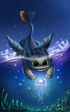 akriel ilustracion: Chibi toothless