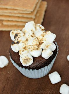 The Kitchen McCabe: Chocolate Pumpkin S'mores Muffins