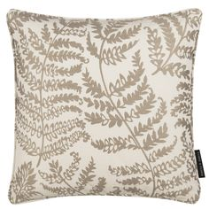 Wild Fern Natural Square Cushion