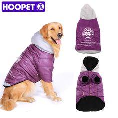 HOOPET Grandes roupa Do Cão Roxo-Quente De Algodão acolchoado Dois Pés Roupas Engrossar jaqueta casaco Moletom Com Capuz