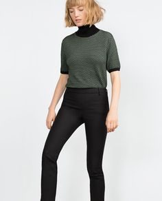 TROUSERS WITH SIDE ZIP-View All-TROUSERS-WOMAN-SALE | ZARA United States