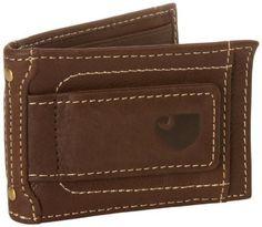 Carhartt Men's Magnetic Front Pocket Wallet Brown One Size New #Carhartt #BadgeWallet