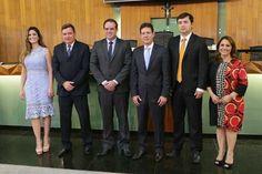 da esquerda para a direita: Michele Bretas, Wilson Pinheiro, Alexandre Nogueira, Ronaldo Alves e Dra. Jussara   foto: Denilton Guimarães/CMU