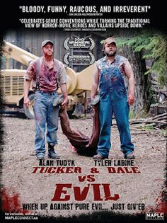 Tucker and Dale vs Evil. A really funny reversed survival movie where college kids are freaks and hillbillies simply nice. Definitely for a friends and pop corn quality time! Tyler Labine and Alan Tudyk are just playing it right!