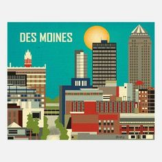 Des Moines Print, $22, now featured on Fab.