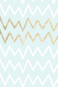 Pale blue white and gold chevron