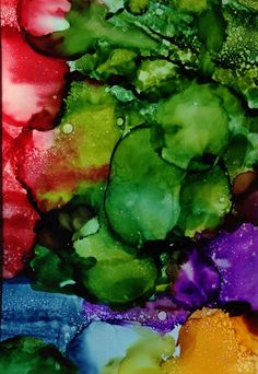 Original abstract art painting. Alcohol ink.  by KCsCornerGallery, $45.00
