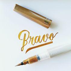 Bravo #calligrafikas #brushpen #watercolorbrush
