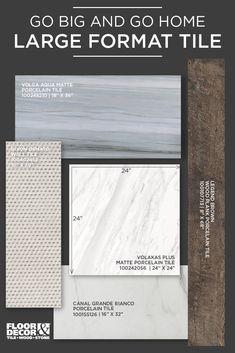 Big trends, like Large Format Tile, in our Inspiration Catalog...