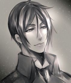 "sebastian-is-my-lord: ""Artwork by Jinko Have you guys ever seen a most handsome Demon? (ღˇ◡ˇ)♥ℒᵒᵛᵉᵧₒᵤ♥, Sebby! Black Butler Sebastian, Black Butler Anime, Black Butler Undertaker, Black Butler 3, Sebastian Kuroshitsuji, Anime Manga, Anime Guys, Black Butler Characters, Sebaciel"