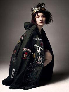 Embellished Army Jacket Libertine, Nose Ring Chris Habana, Crown Vauje