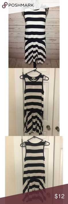 LOFT Outlet Striped Dress Black & white striped dress from Ann Taylor LOFT Outlet. Brand new with tag. 97% rayon, 3% spandex. LOFT Dresses