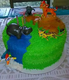 Lion Guard Birthday Cake by Cakes by Becky.