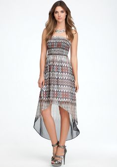 Bebe mixed stitch maxi dress