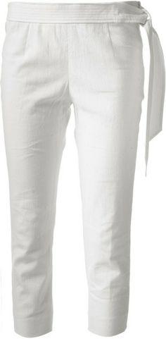 ISABEL MARANT White Cropped Trouser