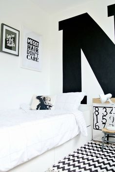 Do you dare to decorate your little ones' room in black