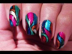 Colorful Nail art - Carnival