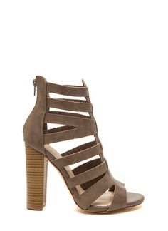 So Strapping Lace-Up Chunky Heels #strappy #laceup #chunky #heels ...
