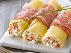 Cannellonis à la coppa farcis à la ricotta et aux tomates