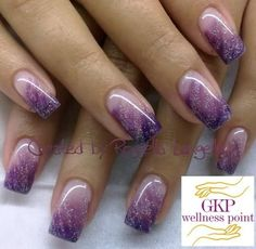 (notitle) The post (notitle) & Nägel appeared first on Powder dip nails . Purple Nail Art, Purple Nail Designs, Colorful Nail Designs, Cute Nail Designs, Acrylic Nail Designs, Purple Glitter Nails, Fabulous Nails, Gorgeous Nails, Pretty Nails