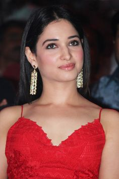 Tamanna Latest Stills at Audio Launch In Red Gown