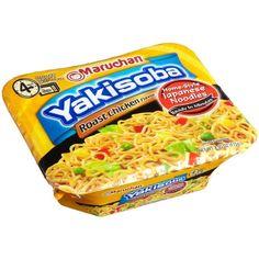 Maruchan Yakisoba Roast Chicken, 4.05-Ounce Packages (Pack of 8) ($45) ❤ liked on Polyvore featuring food