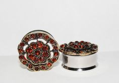Hey, I found this really awesome Etsy listing at https://www.etsy.com/listing/160914476/vintage-style-crystal-plugs-bronze-and