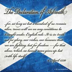 Craig included these words in a speech he gave for the of July celebrations in Boston. Wolf People, St Andrews Cross, Scotland History, Scottish Independence, Fathers Day Crafts, Outlander Series, My Heritage, British Isles, Family History
