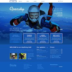 Template 42769 - Skydiving  Responsive Website Template
