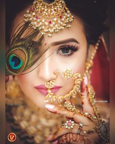 The eye make up is to die 😍 . Makeup and hai Wedding Couple Poses Photography, Indian Wedding Photography, Wedding Photography Poses, Photography Ideas, Bridal Poses, Bridal Photoshoot, Wedding Poses, Wedding Couples, Wedding Dresses