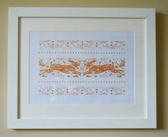 Digital print of 2 Hares in a cream mount by WychwoodCuckoo, Hare, Digital Prints, Greeting Cards, Cream, Printed, Unique Jewelry, Handmade Gifts, Etsy, Vintage