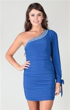 1719757d9642a one shoulder studded club dress with double ruched sides