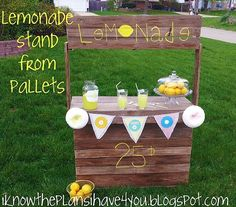 Made from pallets~~ What a great idea for kids this summer...