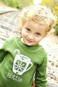 Green Hottie Hot Chocolate Mug Long Sleeve T by LittleFigs on Etsy, $17.50