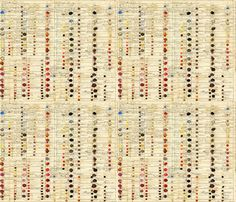 First ColorChart fabric by peagreengirl on Spoonflower - custom fabric. One of the oldest color charts was created by Richard Waller in 168