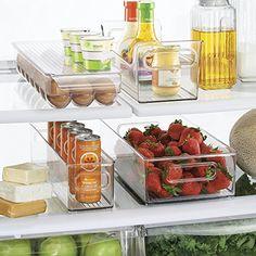 mDesign Refrigerator and Freezer Storage Organizer Bins f...