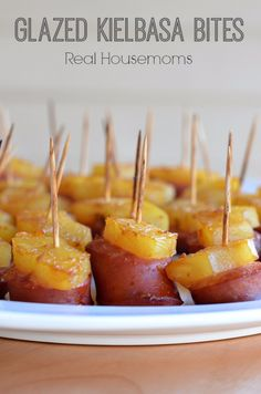 Last Minute Party Foods - Glazed Kielbasa Bites - Easy Appetizers, Simple Snacks, Ideas for 4th of July Parties, Cookouts and BBQ With Friends. Quick and Cheap Food Ideas for a Crowd http://diyjoy.com/last-minute-party-recipes-foods